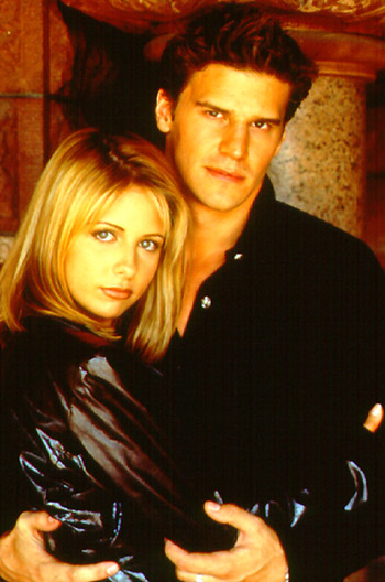 Angel and Buffy wear leather