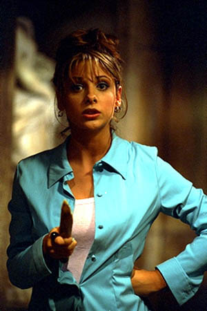 Buffy in blue
