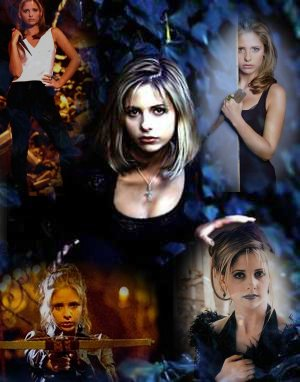 buffy collage by serendipity, beaming from tripod
